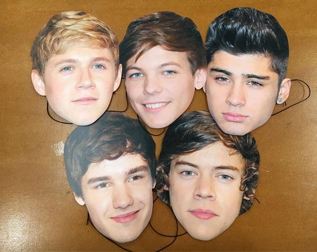 One Direction Maske aus Karton Pack