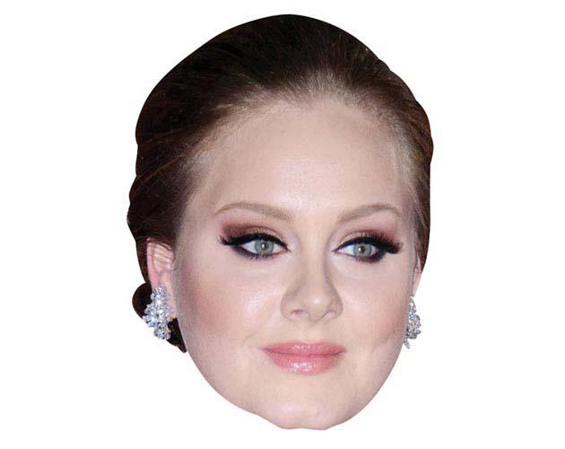 Adele Maske aus Karton