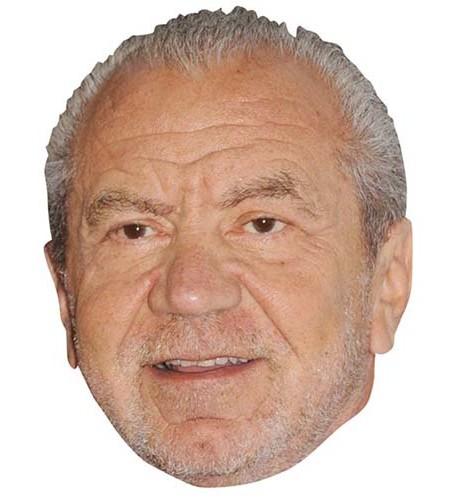 Alan Sugar Maske aus Karton
