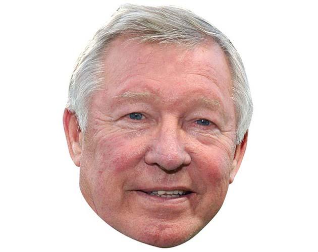 Alex Ferguson Maske aus Karton