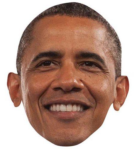 Barack Obama Maske aus Karton