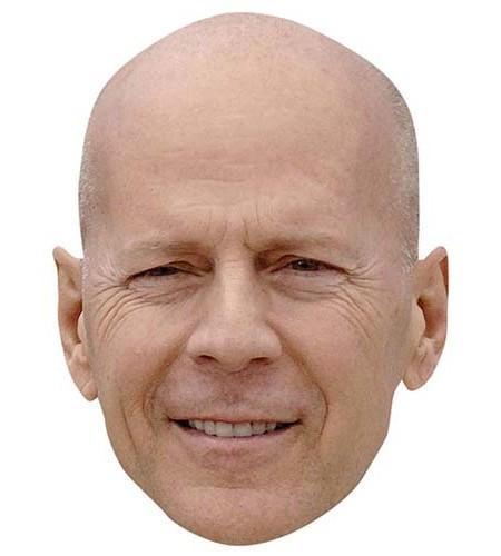Bruce Willis Maske aus Karton