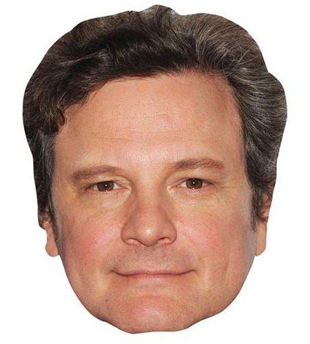 Colin Firth Maske aus Karton