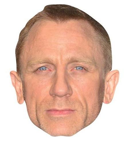Daniel Craig Maske aus Karton
