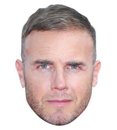 Gary Barlow Maske aus Karton