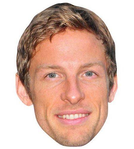Jenson Button Maske aus Karton