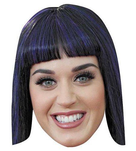Katy Perry Maske aus Karton