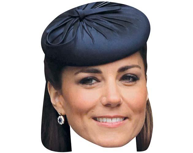 Kate Middleton Maske aus Karton