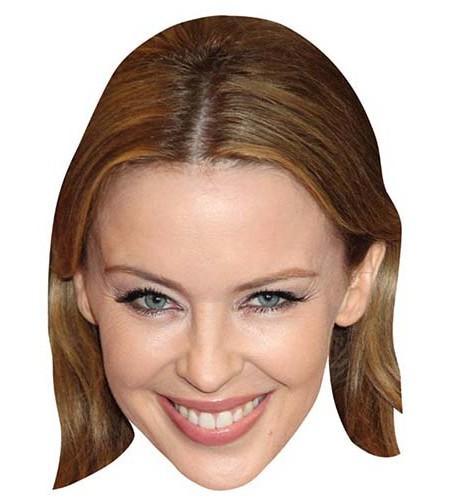 Kylie Minogue Maske aus Karton