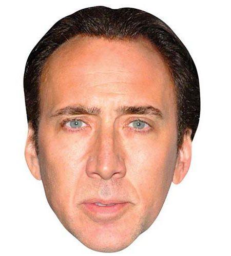 Nicolas Cage Maske aus Karton