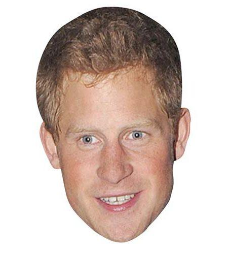 Prince Harry Maske aus Karton