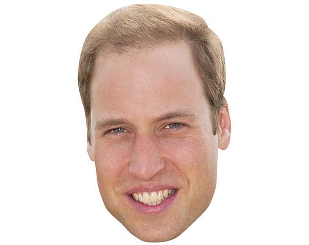 Prince William Maske aus Karton