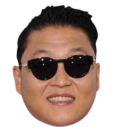 Psy Maske aus Karton