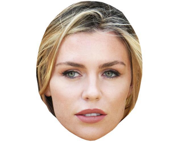 Abbey Clancy Celebrity Maske aus Karton