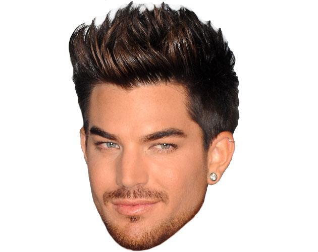 Adam Lambert Maske aus Karton
