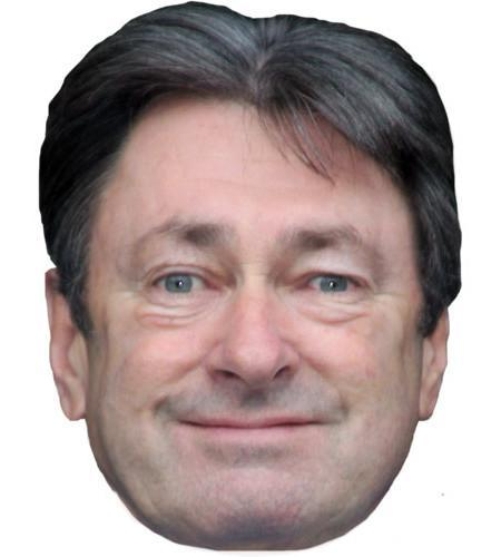 Alan Titchmarsh Maske aus Karton