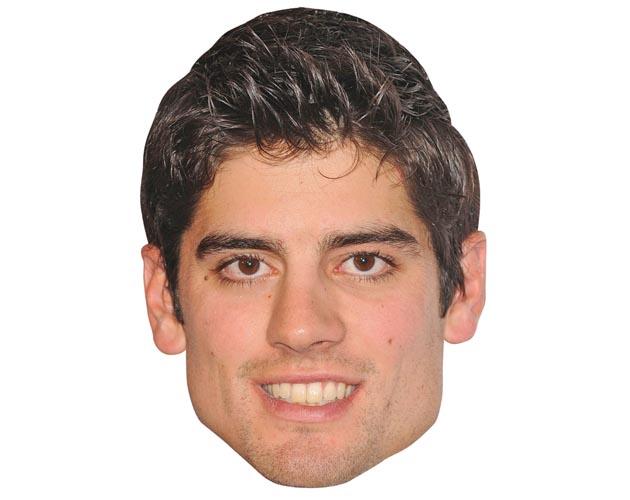 Alastair Cook Maske aus Karton