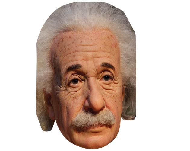 Albert Einstein Celebrity Maske aus Karton