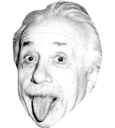 Albert Einstein (Tongue) Celebrity Maske aus Karton