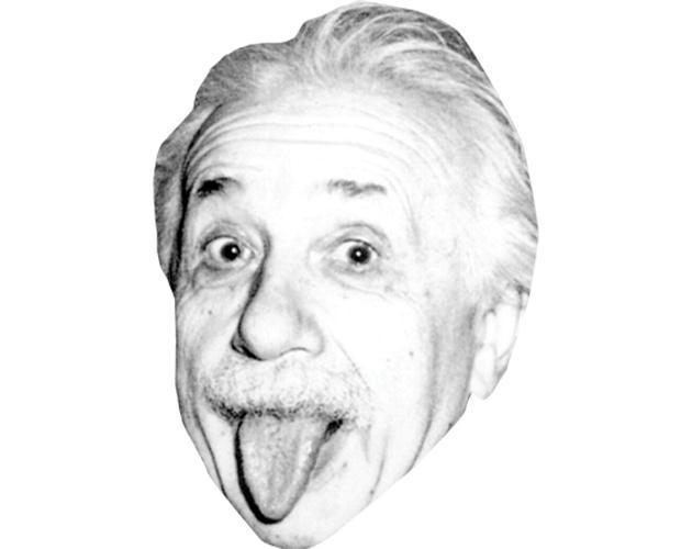 Albert Einstein (Tongue) Celebrity Maske aus Karton