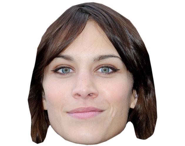 Alexa Chung Celebrity Maske aus Karton