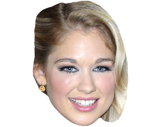 Amanda Clapham Celebrity Maske aus Karton