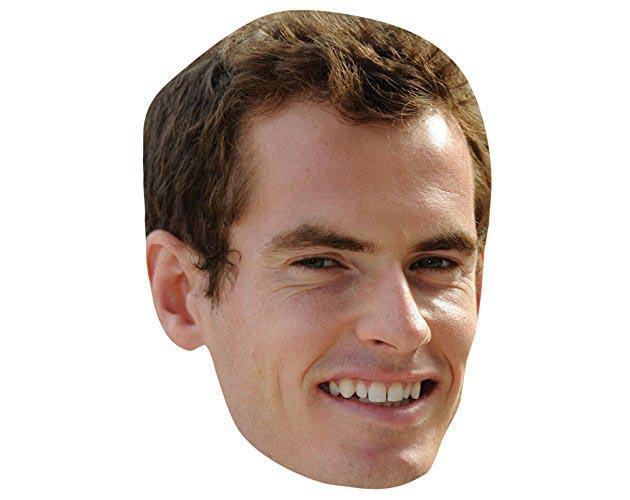 Andy Murray Maske aus Karton