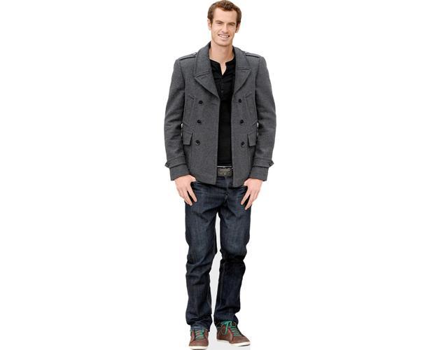 Andy Murray (Jacket) lebensgroßer Pappaufsteller