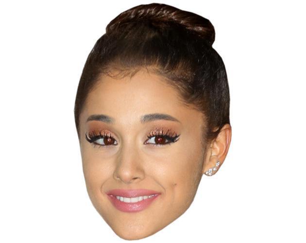 Ariana Grande (Hair Up) Celebrity Maske aus Karton