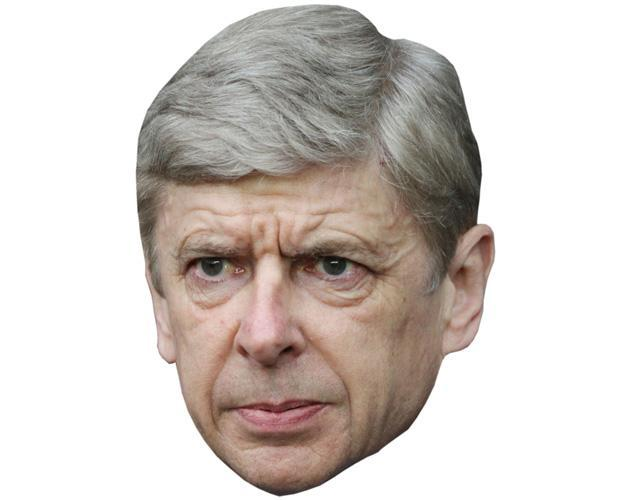 Arsene Wenger Celebrity Maske aus Karton