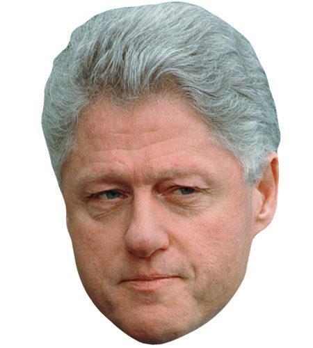 Bill Clinton Celebrity Maske aus Karton