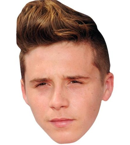 Brooklyn Beckham Celebrity Maske aus Karton