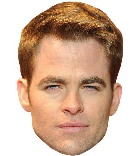 Chris Pine Celebrity Maske aus Karton