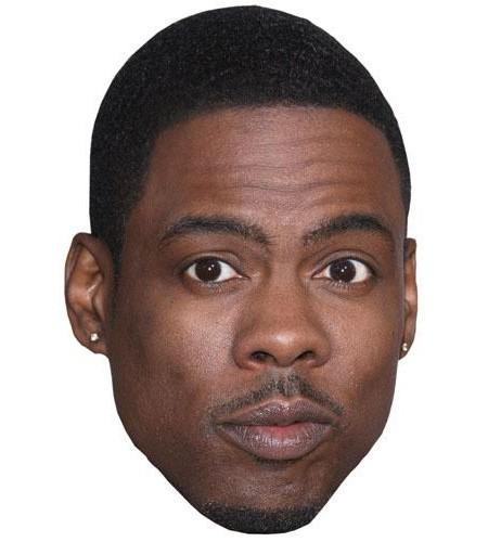 Chris Rock Celebrity Maske aus Karton