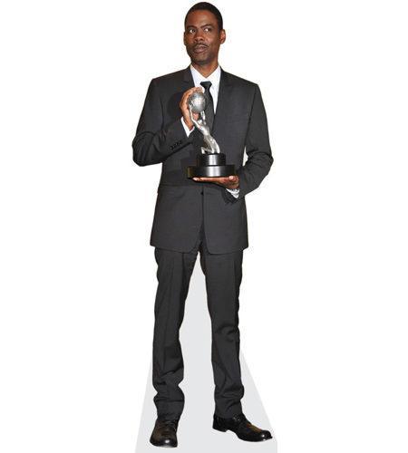 Chris Rock (Trophy) lebensgroßer Pappaufsteller