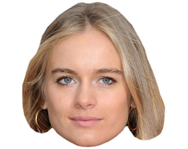 Cressida Bonas Celebrity Maske aus Karton