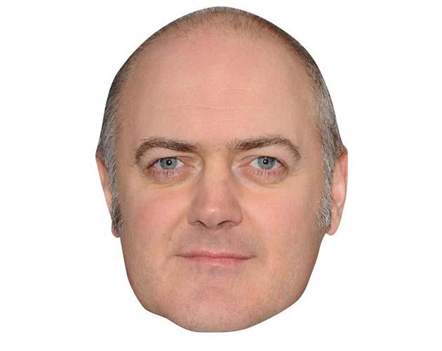 Dara O Briain Maske aus Karton