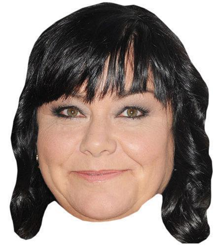 Dawn French Maske aus Karton