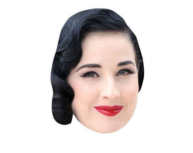 Dita Von Teese Maske aus Karton