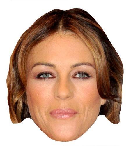 Elizabeth Hurley Maske aus Karton