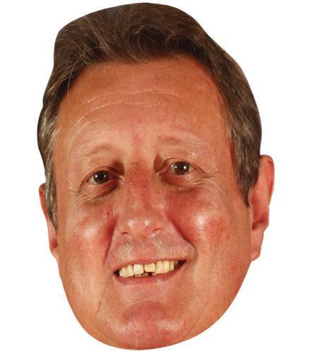 Eric Bristow Celebrity Maske aus Karton