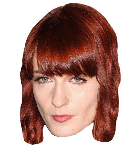 lebensgroßer Pappaufsteller Florence Welch Mask