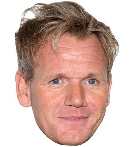 Gordon Ramsay Celebrity Maske aus Karton