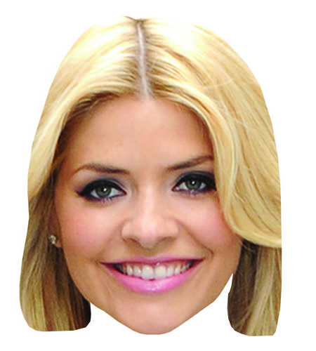 Holly Willoughby Maske aus Karton