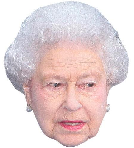 HRH The Queen Maske aus Karton