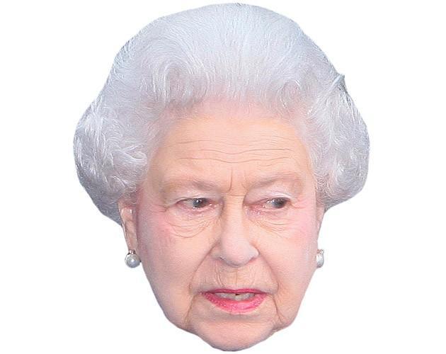HRH The Queen Maske aus Karton
