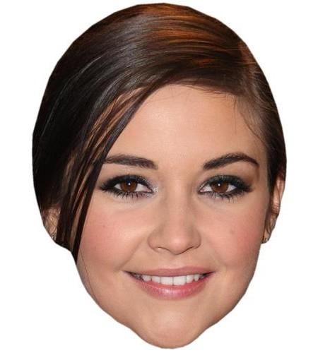 Jacqueline Jossa Celebrity Maske aus Karton