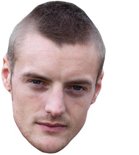 Jamie Vardy Celebrity Maske aus Karton
