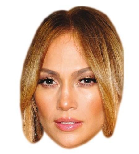 Jennifer Lopez Maske aus Karton