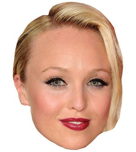 Jorgie Porter Celebrity Maske aus Karton
